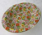 Morley Ware chintz oval vegetable bowl