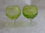 Nachtmann Traube Grape 2 brandy glasses charteuse