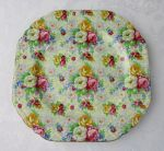 Nelson Ware Rose Time chintz salad plate square