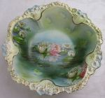RS Prussia large serving bowl Water Lily