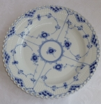 Royal Copenhagen Dinner Plates, Full Lace Blue Fluted
