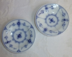 Royal Copenhagen Blue Fluted 2 butter pats