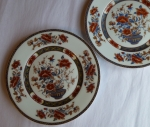 Royal Limoges Mandarin bread plates set of 2 French Limoges