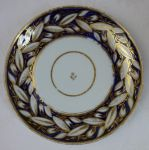New Hall soft paste porcelain plate pattern 540 Tobacco leaf