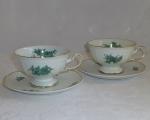 Rosenthal Greenbriar Gold Tea Cups & Saucers, 2 sets