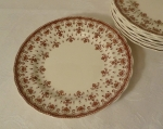 Spode Copeland Fleur de lis Brown Bread Plate Set of 4