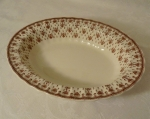 Spode Copeland Fleur de lis Brown Oval Vegetable Bowl