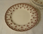Spode Copeland Fleur de lis Brown Salad Plates set of 4
