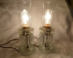 Electric Lamps Hurricane Shades Sandwich Glass Petal & Shell