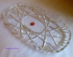 Walther Glass Oval Serving Tray or Platter 15""