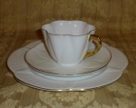 Shelley Dainty White Tea Cup Saucer Dessert Plate