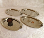 Silver Trays 4, Shell Handles, 7 inch
