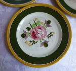Stangl Pottery El Rosa lunch plates 9 3/8 inch