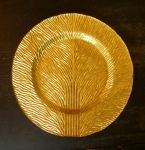 Tree of Life Gold Art Glass 11' Plate
