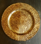 Tree of Life (4) Brown Gold Art Glass 13' Plates