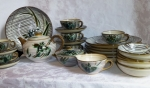 Ucagco Iris dinnerware & tea set Occupied Japan