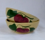 Watt Pottery 2 Leaf Apple 2 cereal bowls #74