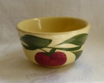 Watt Pottery Red Apple #04 small ribbed mixing bowl