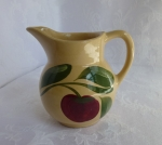 Watt Pottery Red Apple #62 Cream Pitcher, 4 1/2 inch, 1950s