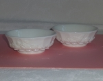 Westmoreland Paneled Grape 2 Dessert Bowls milk glass