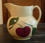 Watt Pottery 2 Leaf Apple #17 Pitcher with ice lip