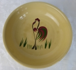 Watt Pottery Rooster #24 small spaghetti bowl