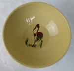 Watt Pottery hand painted Rooster fruit bowl #58