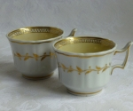 Chamberlain's Worcester #910 2 coffee cups, yellow, 1810