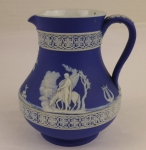 Wedgwood Jasperware dark blue pitcher 4 1/4 inch