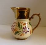 Wade Copper Luster Daisy Breakfast Pitcher, 6 1/2""
