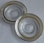 Webster Sterling Silver Glass 2 Saucers demitasse