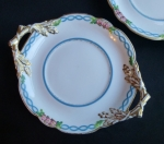 Antique English bone china under plate Kerr & Binns 1850s