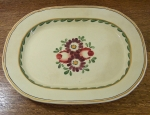 "Gaudy English Ironstone Hand Painted 15"" Platter, Baker & Co"