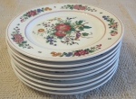 Hutschenreuther Black Knight Luncheon Plates set of 8