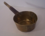 Brass Sauce Pan, English, Primitive Kitchen Decoration