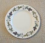 "Royal Doulton China Burgundy 6 1/2"" Bread Plates set of 6"