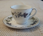Royal Doulton Burgundy Demitasse Cups & Saucers set of 4