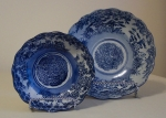 Chinese Blue & White Spider Bowls, late 19th century