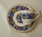Crown Ducal Florentine Garden Demi Cup & Saucer