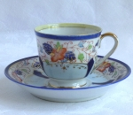 Occupied Japan demi cup & saucer, Gold China