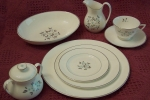 Royal Doulton Delphian 54 Pce Set, Service for 10, aqua plat