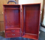 Doll trunk wardrobe American Girl wood 20 inch vintage