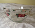 Franciscan Apple Glass Bowl, Salad Serving