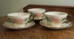 Franciscan USA Desert Rose 3 sets Cup & Saucers