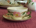 Franciscan USA Desert Rose 2 Tea Cups & Saucers