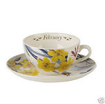 Spode February Flower of the Month Cup & Saucer