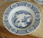 "Furnivals Old Chelsea Rim Soup Bowl 8 5/8"", 1916 blue & whit"