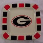 University of Georgia UGA Square Snack Plates