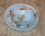 Haviland Autumn Leaf 2 Tea Cup & Saucers French Limoges