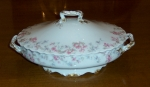 Haviland Limoges, Sch 32 Pink Azalea, Covered Vegetable